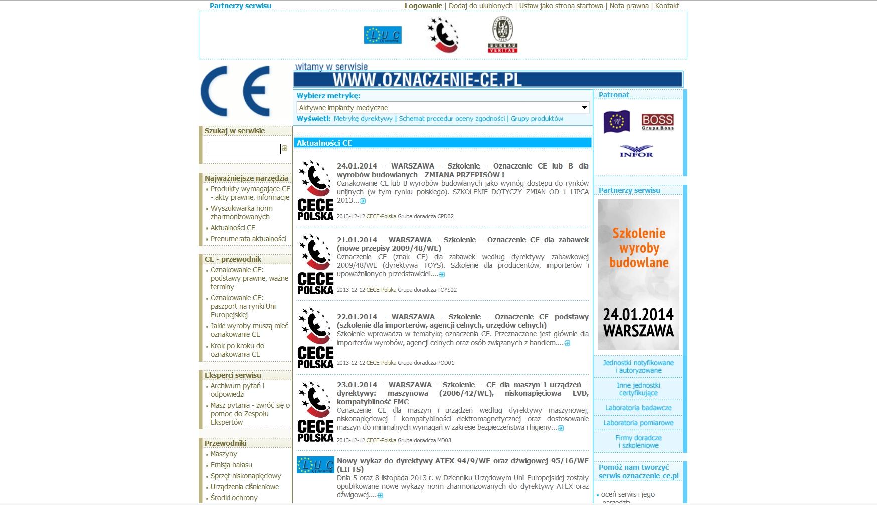oznaczenie CE - print screen - portal www.oznaczenie-ce.pl